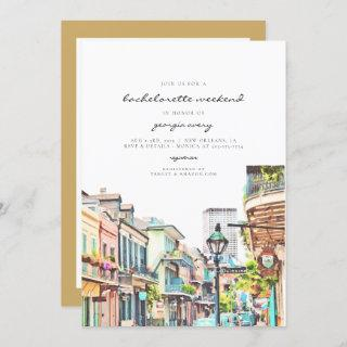 NOLA | New Orleans Mardi Bachelorette Itinerary Invitation
