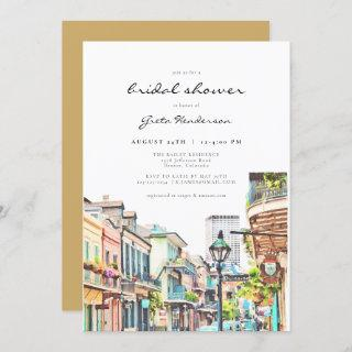 NOLA | New Orleans Mardi Gras Bridal Shower Invitation