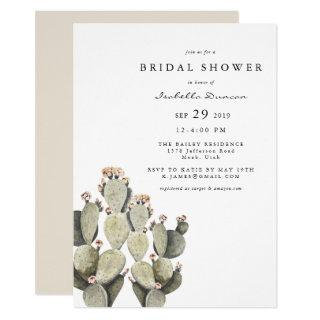 Norah - Bohemian Prickly Pear Cactus Watercolor Invitation