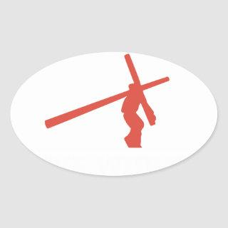 not all superheroes wear capes mine wore a cross g oval sticker