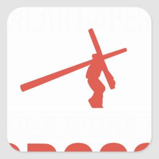 not all superheroes wear capes mine wore a cross g square sticker