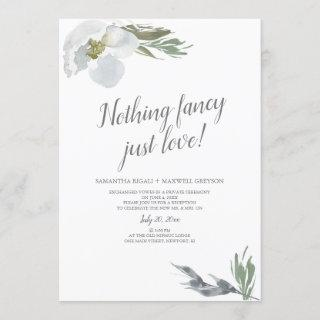 Nothing Fancy Just Lo Cool Watercolor Florals Invitation