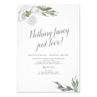 Nothing Fancy Just Lo Cool Watercolor Florals Invitations