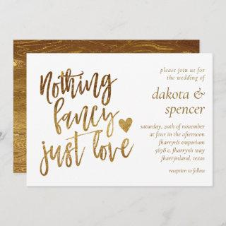 Nothing Fancy Just Love   Gold Heart Micro Wedding
