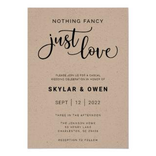 Nothing Fancy Just Love Wedding Invitations