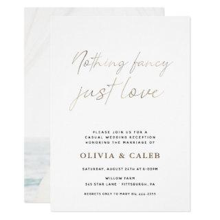 Nothing Fancy Just Love Wedding invitation