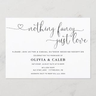 Nothing Fancy Just Love Wedding