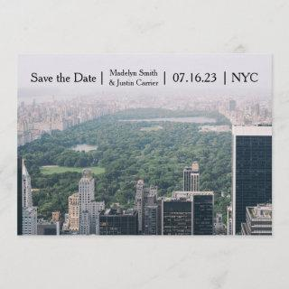 NYC Central Park Photo - Save the Date