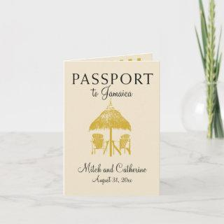 Ocho Rios Jamaica Passport Wedding Invitation