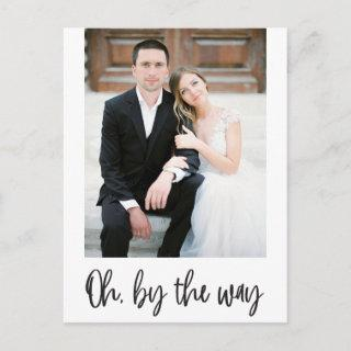 Oh By The Way Elopement Photo Announcement
