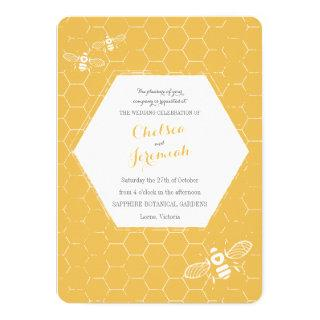 Oh Honey Bee Yellow Custom Wedding Invitations