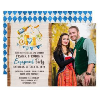 Oktoberfest Bavarian Beer Engagement Party Photo Invitation