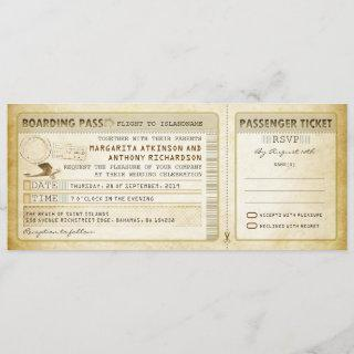 old boarding pass wedding tickets-invites & rsvp Invitations