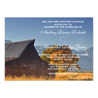 Old Country Mountain Barn Rustic Nature Wedding Magnetic Invitations