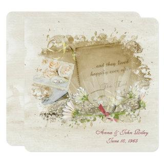 Old-Fashioned Wedding Book Vow Renewal Invitation