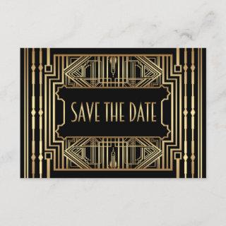Old Hollywood Gatsby Style Wedding Save the Date