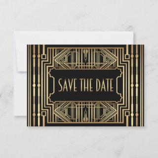 Old Hollywood Style Wedding Save the Date