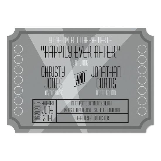Old Hollywood Ticket Style Invitations