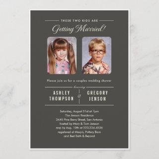 Old Photos Couples Wedding Shower Invitations