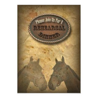old Western Cowboy Country Rehearsal Dinner Invite