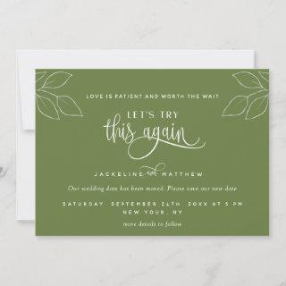 Olive Green, Let's Try This Again, Love is Patient Save The Date