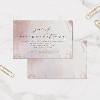 Ombre Blush Pink Frost Accommodations Insert Card