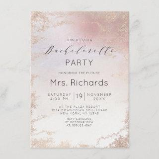 Ombre Blush Pink Frosted Foil Bachelorette Party