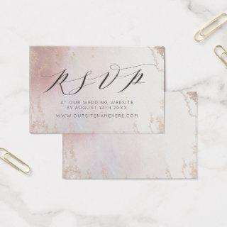 Ombre Blush Pink Frosted Website RSVP Insert Cards
