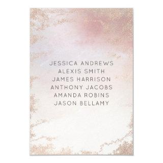 Ombre Blush Pink Frosted Wedding Table Numbers