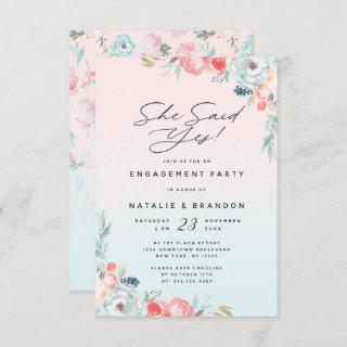 Ombre French Garden She Said Yes Engagement Party