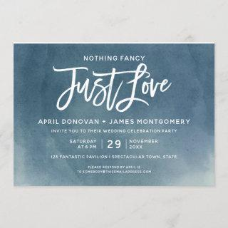 Ombre Nothing Fancy Just Love  Brush Typography Invitations