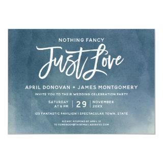 Ombre Nothing Fancy Just Love  Brush Typography Invitation