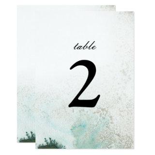 Ombre Watercolor Table Number | GREEN