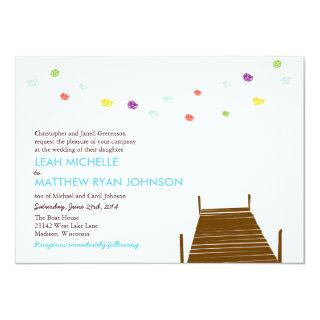 On the water wedding invite
