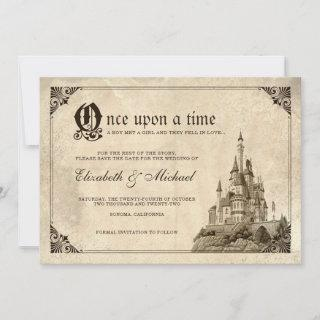 Once Upon a Time | Fairy Tale Castle Save the Date