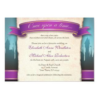 Once Upon a Time Fairytale Wedding Invitations