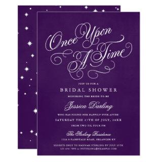 Once Upon A Time Shower Invitations Royal Purple