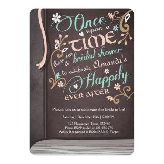 Once Upon a Time Storybook Bridal shower Pink Invitations