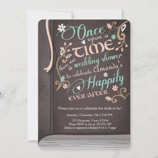 Once Upon a Time Storybook Wedding Shower Pink Invitation