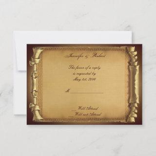 Once Upon a Time Wedding Response Card