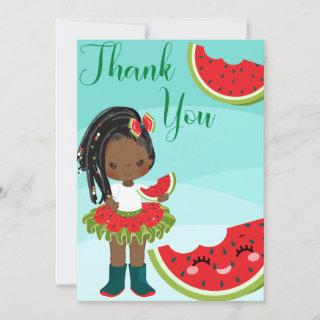 One In A Melon Thank You Card