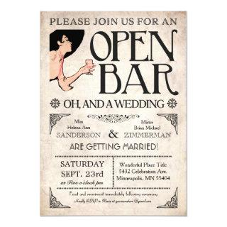 Open Bar and a Wedding Invitations