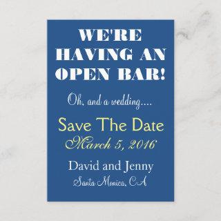 Open Bar Save the Date
