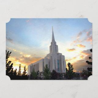 Oquirrh Mountain LDS temple utah mormon sunset