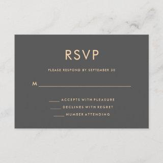 Orange and Smoky Gray | World Map Wedding RSVP