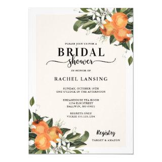 Orange Blossom Bridal Shower Invitations