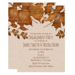 Orange Copper Autumn Fall Wedding Invitations