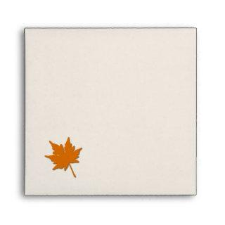 Orange Fall Colors Invitation Envelope