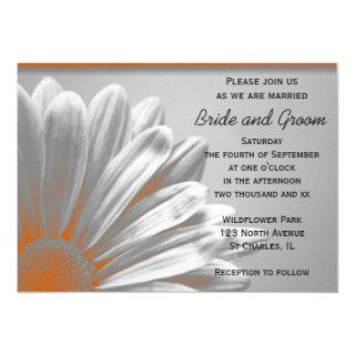 Orange Floral Highlights Wedding Invitations