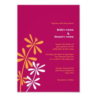 Orange & Fuschia Wedding Invitations